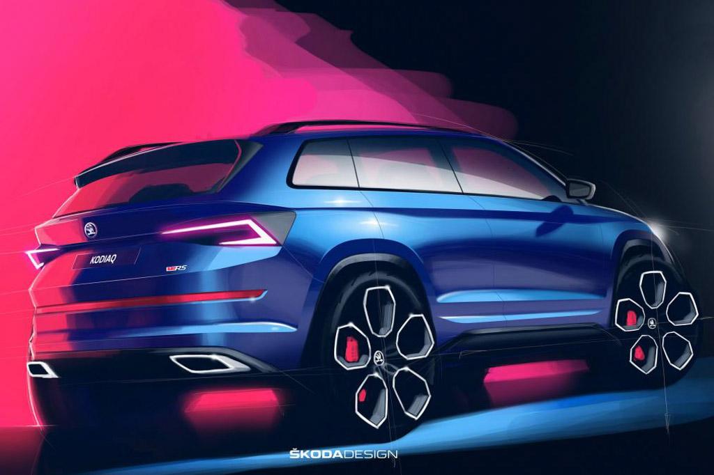 Skoda Kodiaq vRS Design Sketches Revealed; Fastest 7-Seat Production SUV 4