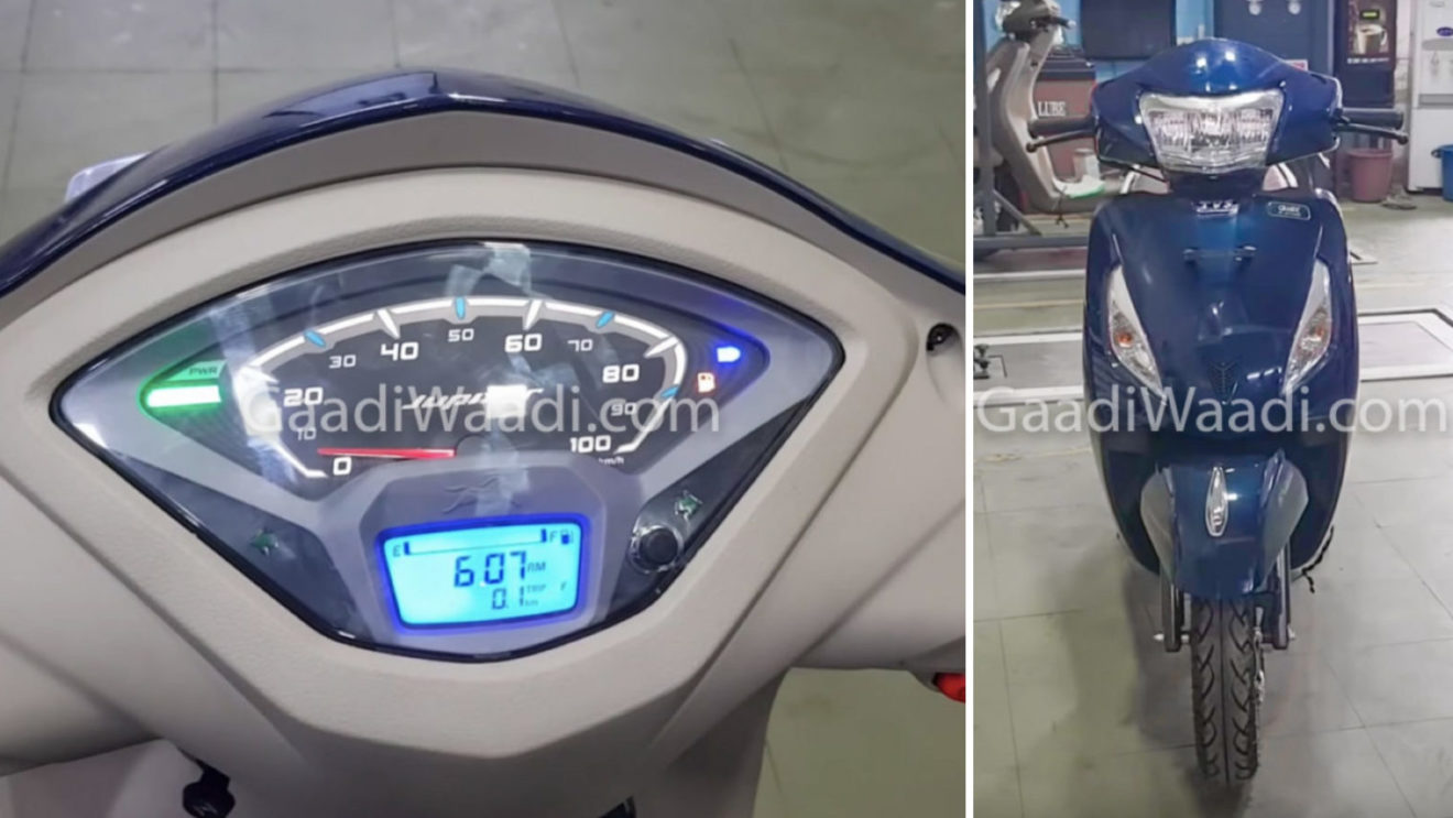 Exclusive Pics Tvs Jupiter Grande With Led Headlight Launch Soon