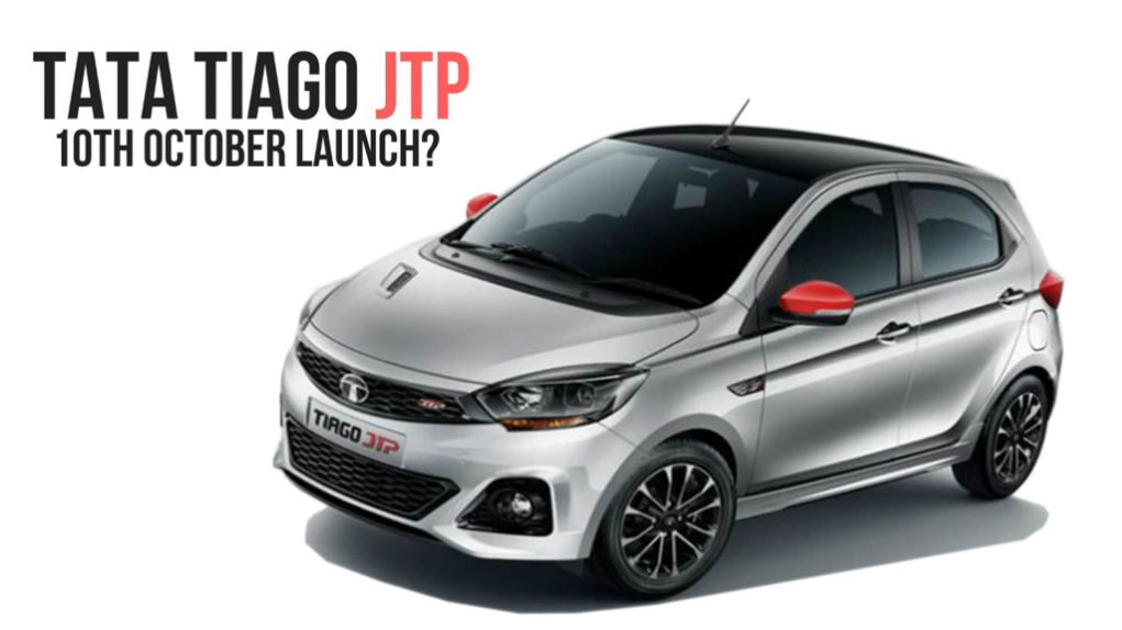 Tata Tiago JTP India Launch Date 10th October