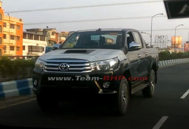 Toyota Hilux Pickup Truck Spied Testing In India