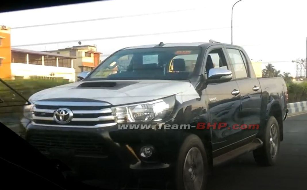 Toyota Hilux Pickup Truck Spied Testing In India 1
