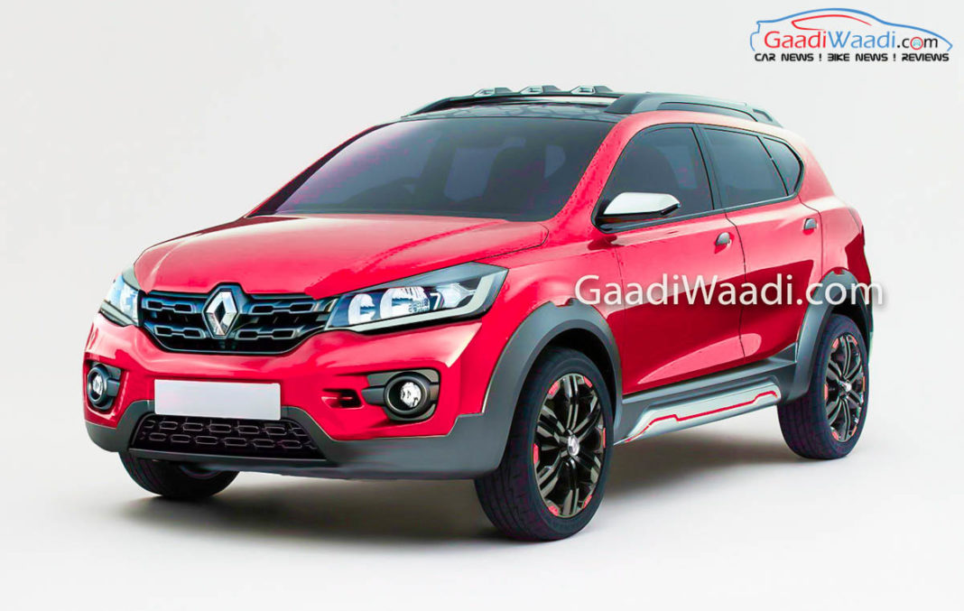 upcoming 7 seater renault kwid mpv rendered launch soon. Black Bedroom Furniture Sets. Home Design Ideas