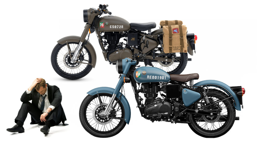 royal enfield dumps customers