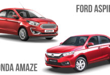 2018 Ford Aspire vs Honda Amaze Comparison Review