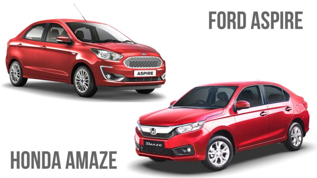 2018 Ford Aspire vs Honda Amaze Comparison Review