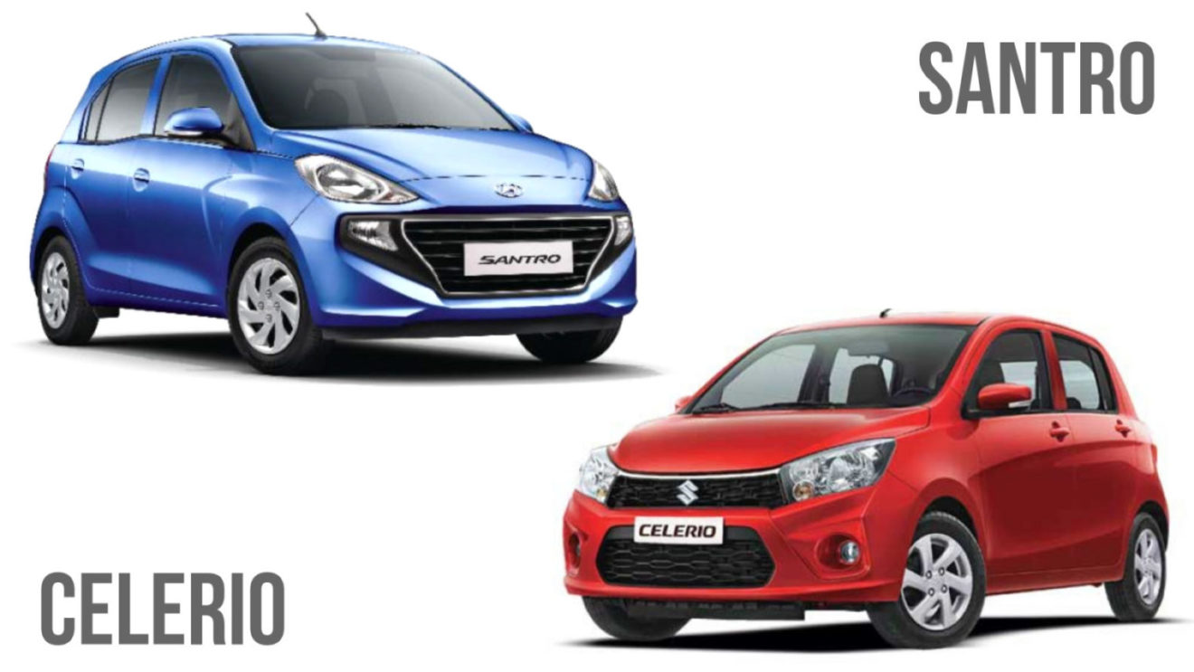 2018 hyundai santro vs maruti celerio comparison review