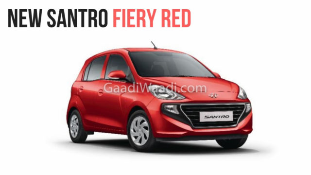 2018 Hyundai Santro fiery red -1