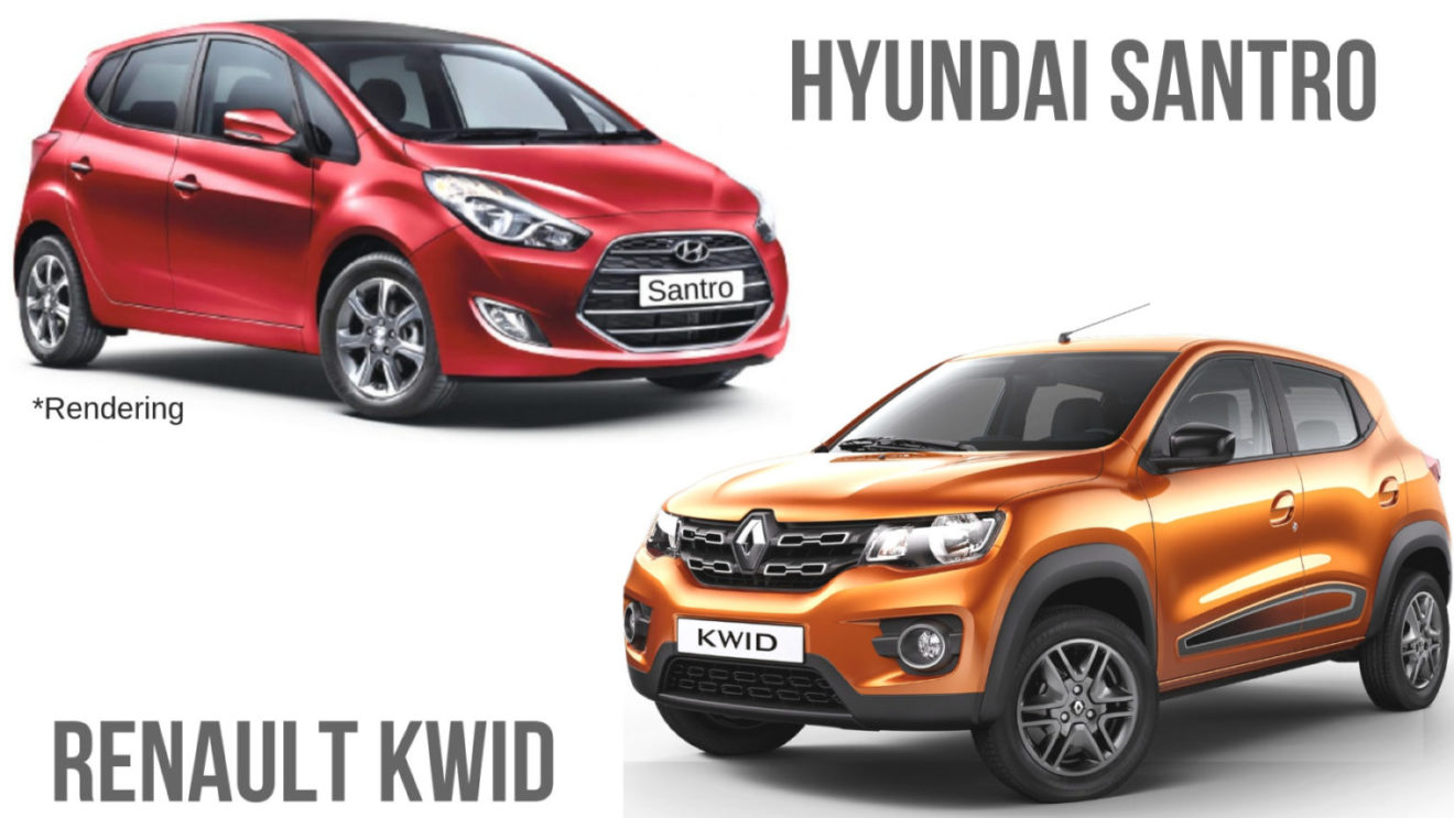 2018 Hyundai Santro vs Renault Kwid Comparison Review