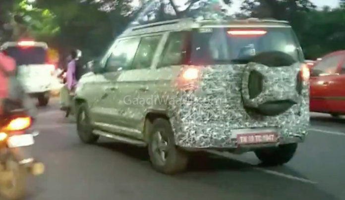 2019 Mahindra TUV300 Facelift Spied Testing For The First Time