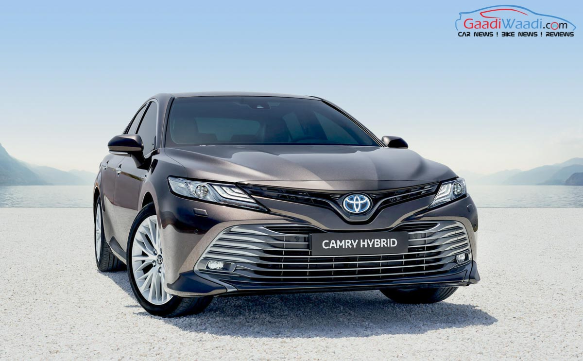 2019 toyota camry hybrid listed on website; launch next month in india