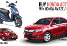 Buy Honda Activa This Festive Season, Win Honda Amaze, brio