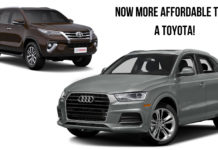 Entry-Level Audi Cars Are More Affordable Than Toyota Fortuner