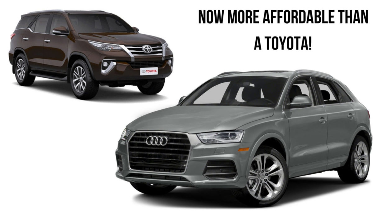 Entry Level Audi Cars Are More Affordable Than Toyota Fortuner