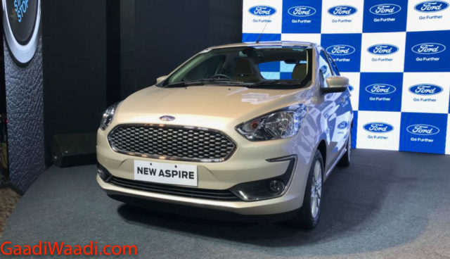 Ford Aspire Facelift Launched In India, Price, Specs, Features, Interior, Mileage 1