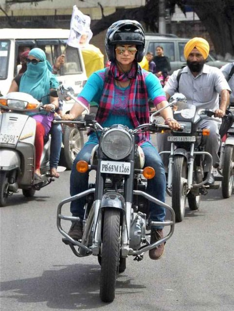 Gul-Panag-with-his-Royal-Enfield