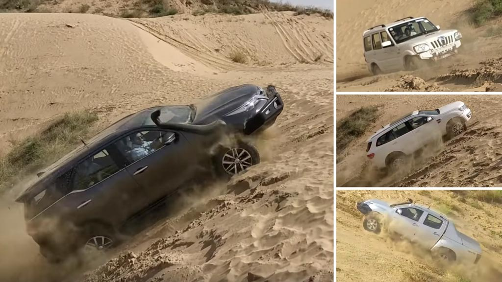 Hill Climb Test- Fortuner Vs Endeavour Vs V-Cross Vs Scorpio