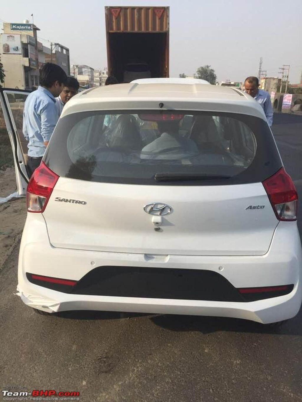 Hyundai Santro Spied Again