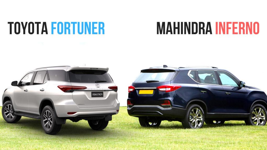 Mahindra Inferno (Y400) VS Toyota Fortuner Comparison