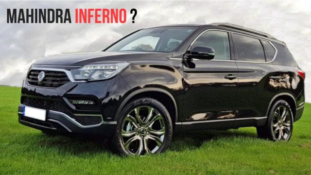 Mahindra To Likely Launch Rexton G4 As 'Mahindra Inferno SUV', Spied Again 1