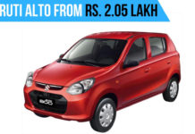 Maruti Alto 800 From Rs. 2.05 Lakh In October,