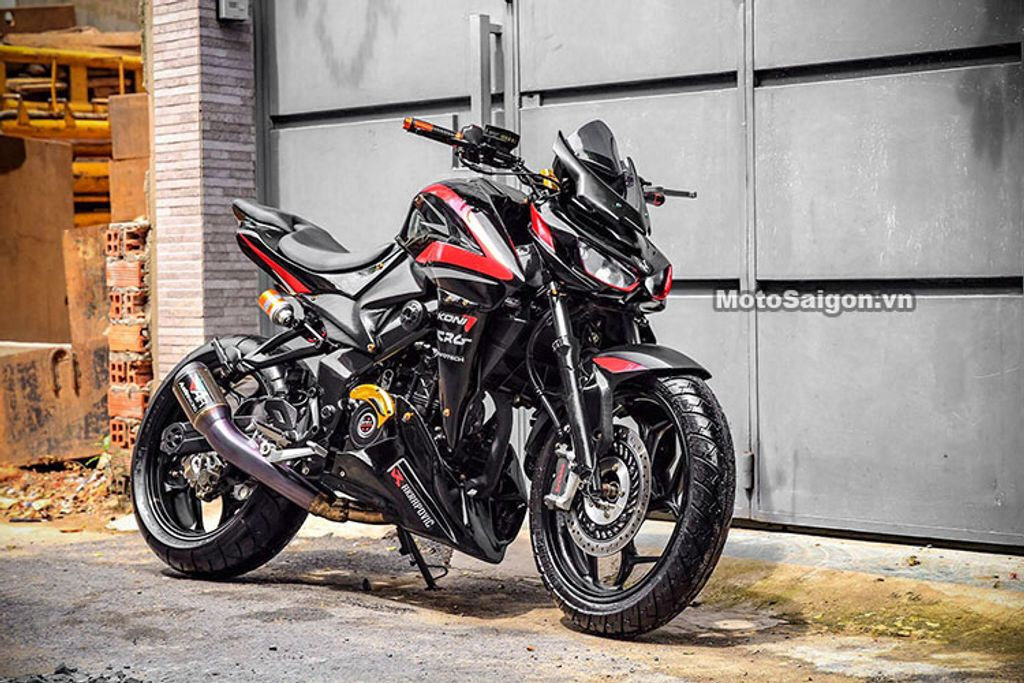 This Modified Pulsar NS200 Looks Like A Kawasaki Z1000