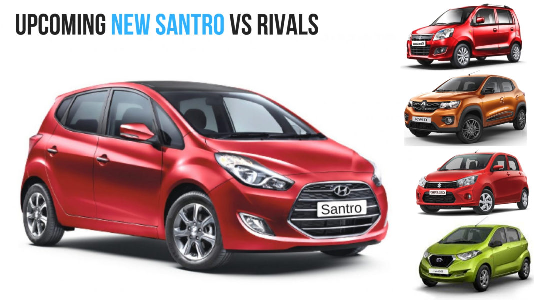 New 2018 Hyundai Santro vs Rivals – Dimensions Compared!