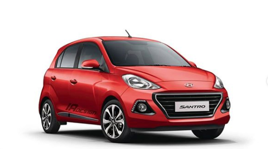 New Hyundai Santro Rendered with Grand i10 Styling