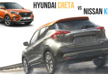 New Nissan Kicks vs Hyundai Creta Comparison