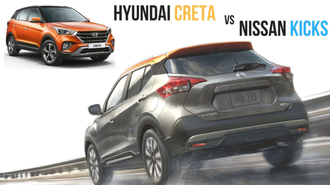 New Nissan Kicks vs Hyundai Creta Comparison