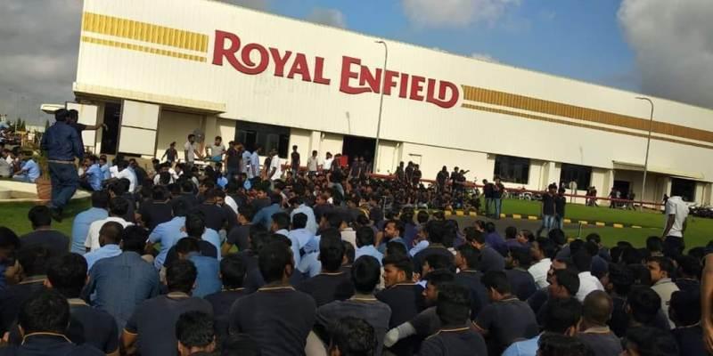 Royal-Enfield worker arrests