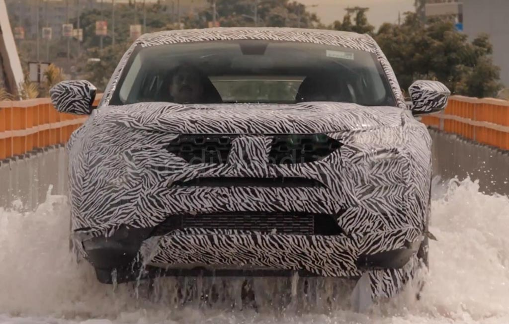 Tata Harrier SUV Teased Again Showcasing Water Wading Capabilities 1