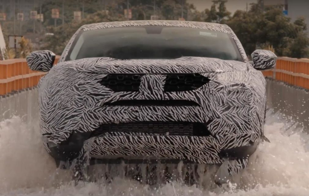 Tata Harrier SUV Teased Again Showcasing Water Wading Capabilities