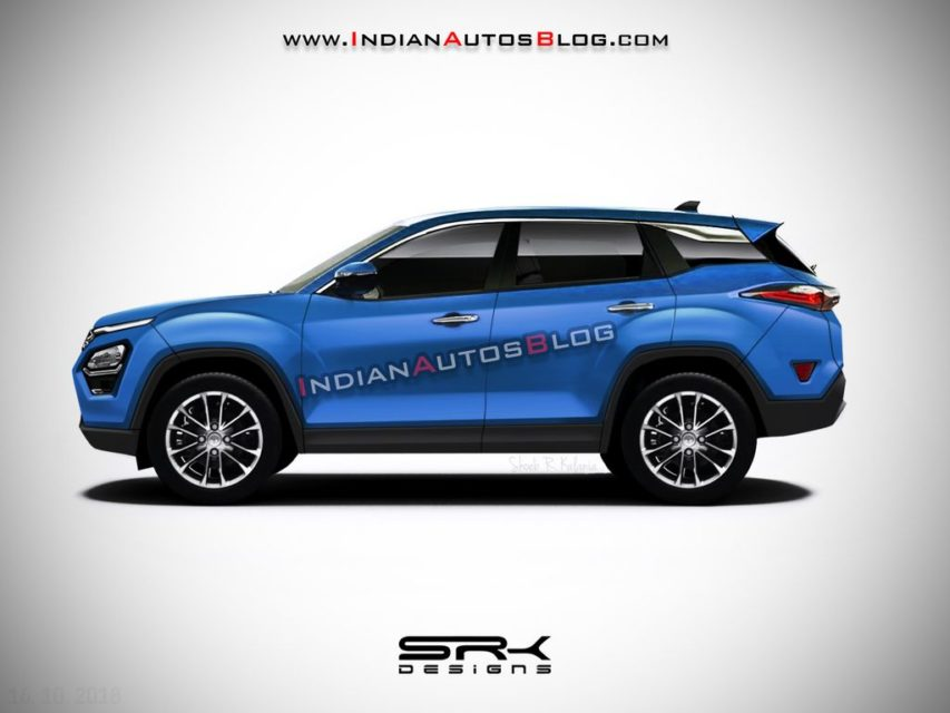 Tata-Harrier-production-model-blue-colour-rendered
