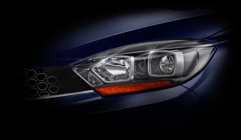 Tata Tigor Facelift Teased Headlamp