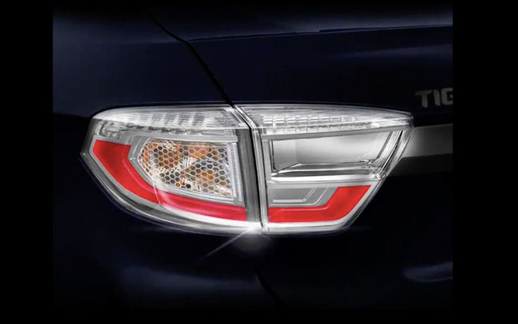 Tata Tigor Facelift Teased Tail lamp