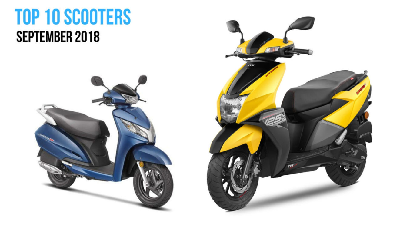 top 10 selling scooters in september 2018 in india. Black Bedroom Furniture Sets. Home Design Ideas