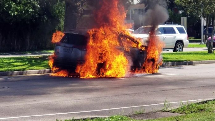 Toyota Suv Caught Fire Firefighters Merely Escaped The