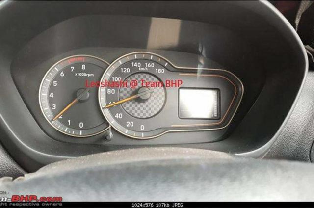 Upcoming Hyundai Santro Interior Instrument Cluster
