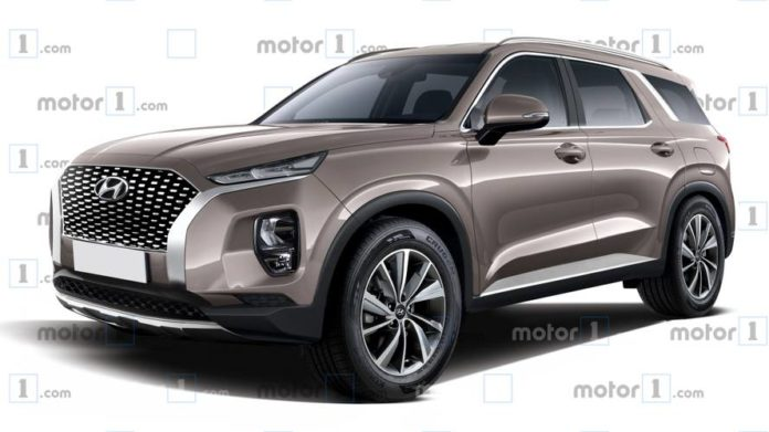 Hyundai Palisade Is A Bigger Than Santa Fe Suv Rendering
