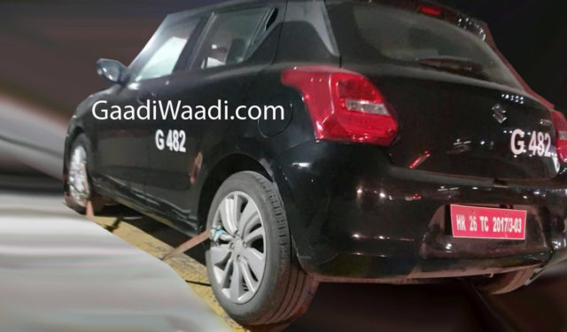 maruti suzuki swift rs 1.0l engine spied on test-2