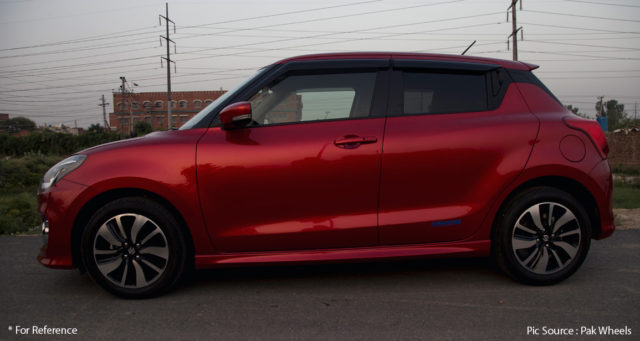 maruti swift rs spied in india