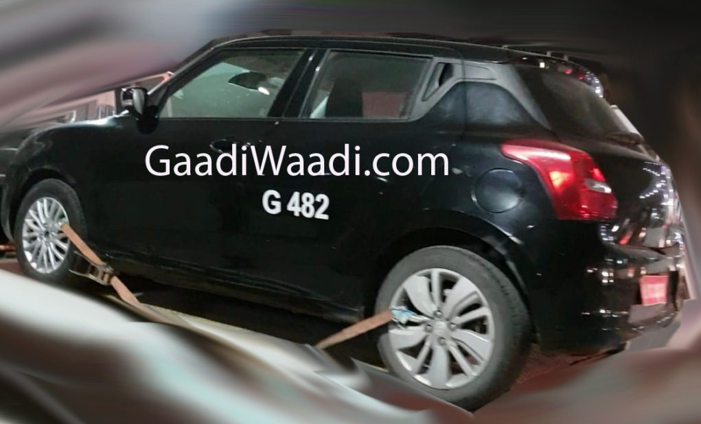 maruti swift rs 1.0 l spied