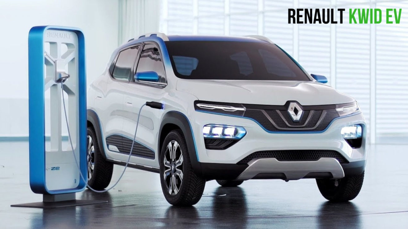 Renault Kwid Ev Electric Vehicle Debuts As K Ze Concept