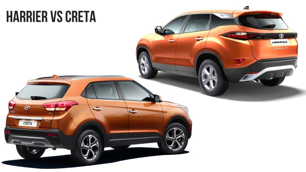 tata harrier vs hyundai creta comparison review images