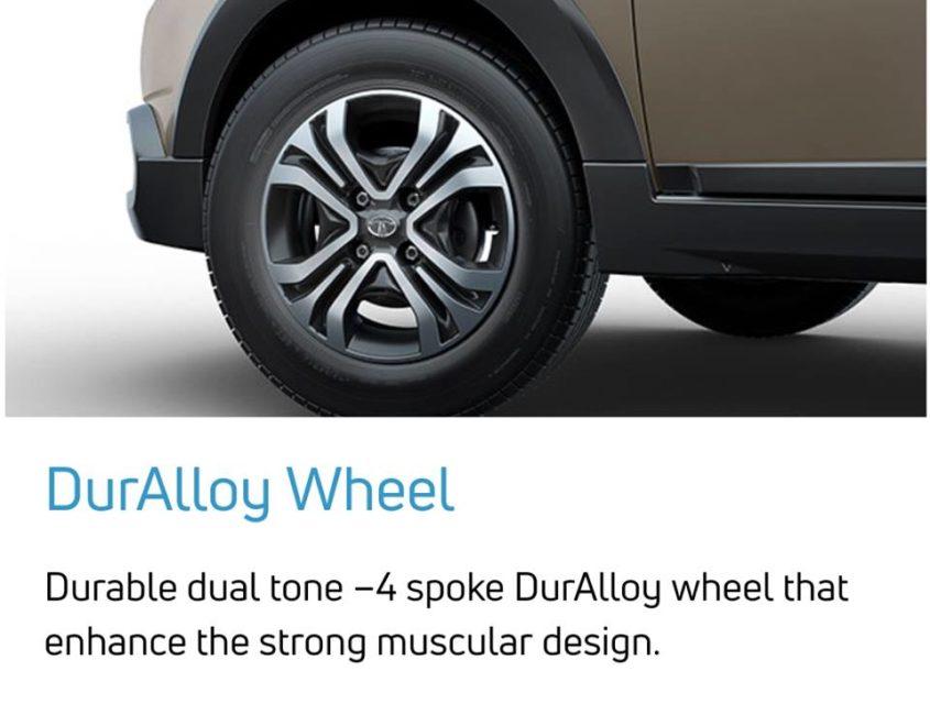 tata tiago nrg duralloy wheels