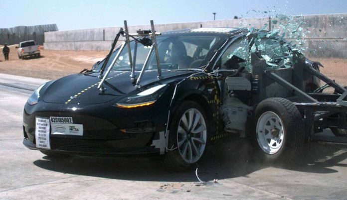tesla model 3 crash test ratings