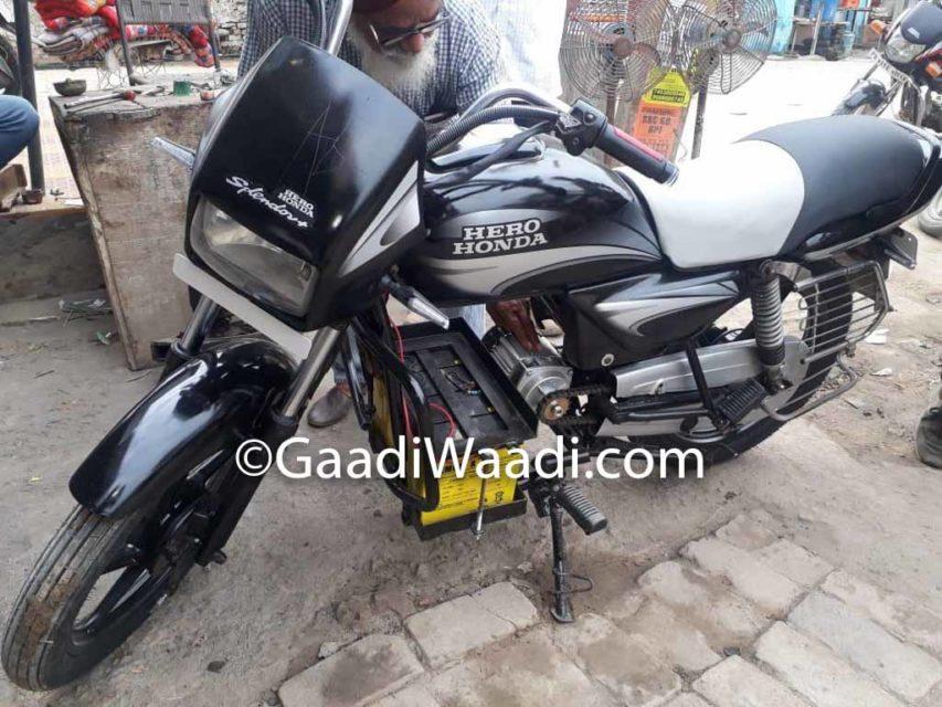 Hero Splendor Electric Jugaad_