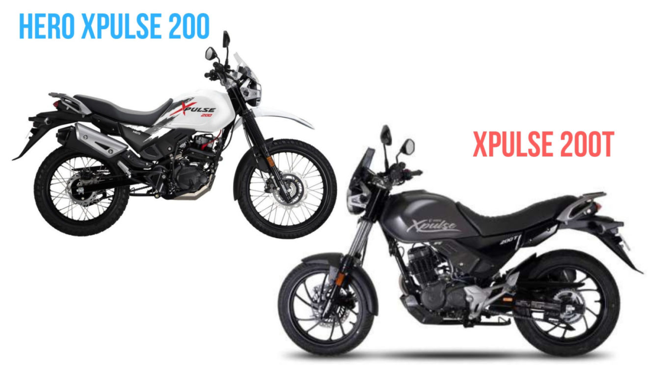 difference between hero xpulse 200 and 200t  launching soon