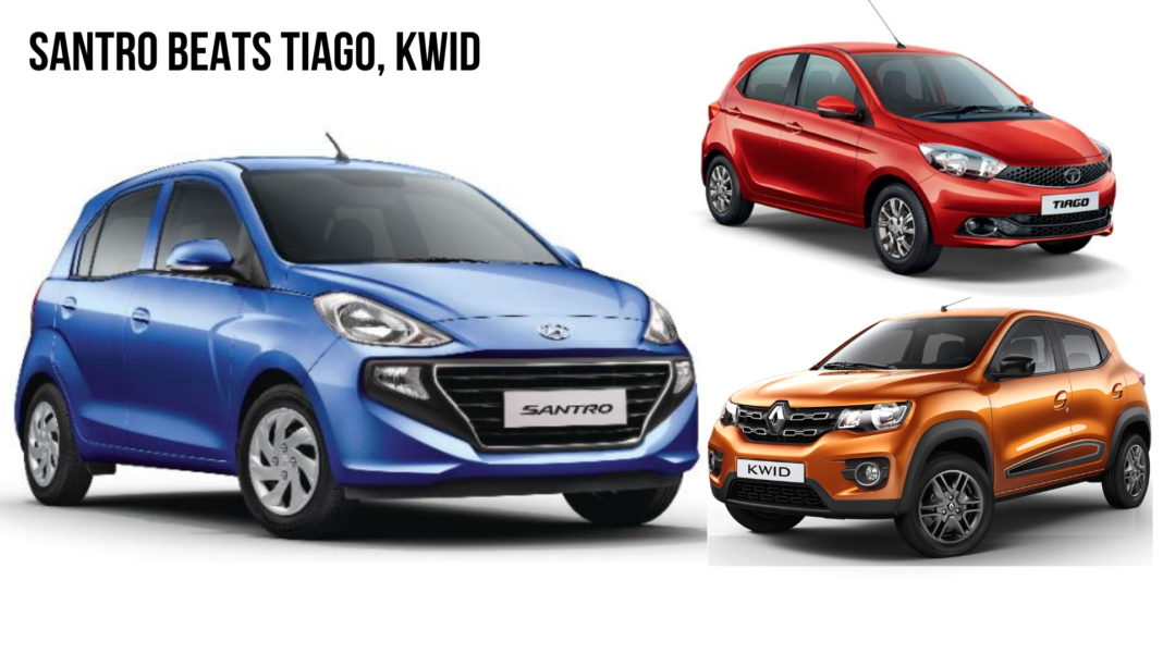 Hyundai Santro Beats Tata Tiago, Kwid in First-ever Month Celerio next