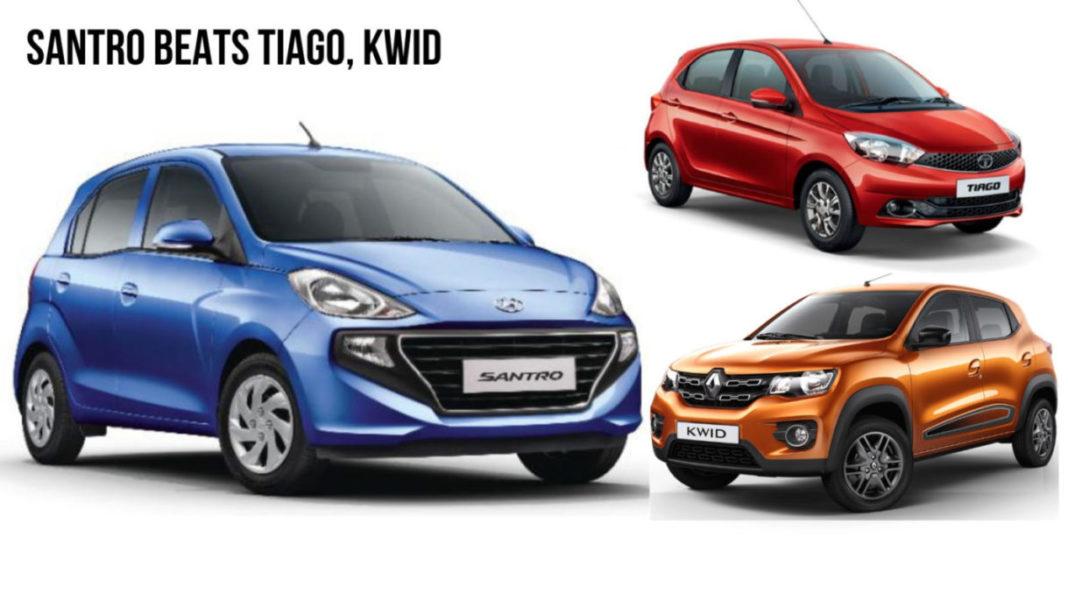 Hyundai Santro Beats Tata Tiago, Kwid in First-ever Month Celerio next